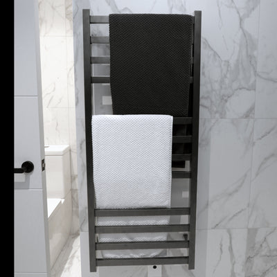 Gunmetal heated towel ladder