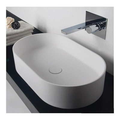 PLUMBLINE SUPER-THIN OVAL ELLIPSE VESSEL BASIN 600X350X125MM