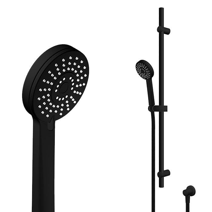 AQUABELLA SPLASH SHOWER SLIDE 3 FUNCTION BLACK