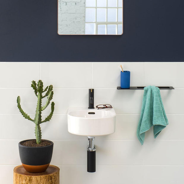 SQUARE HAND TOWEL RAIL - 2 COLOURS