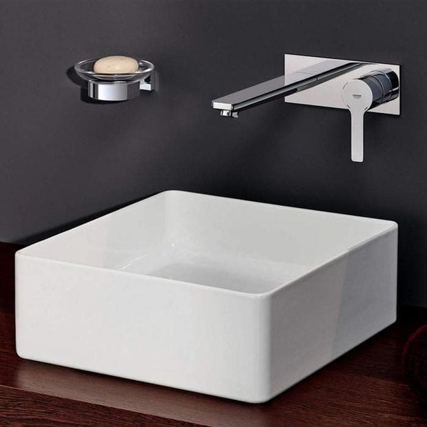 GROHE LINEARE WALL BASIN MIXER WITH VALVE - 2 SIZES