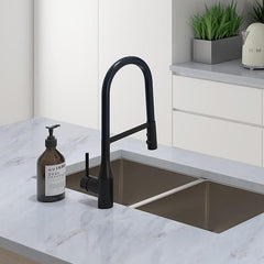 ELEMENTI UNO GOOSE NECK PULL OUT KITCHEN MIXER FLEX - 3 COLOURS