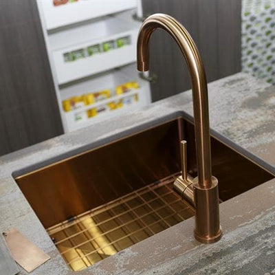 MERCER AURORA ELITE PVD GOOSENECK SINK MIXER  COPPER