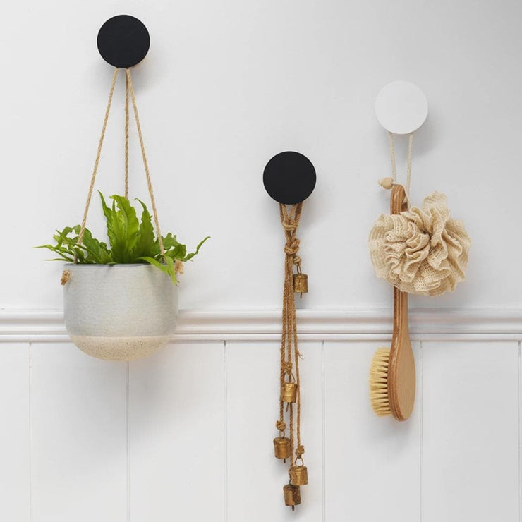 ROUND WALL HOOK - 3 COLOURS