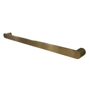 Brushed brass heated towel rail