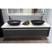 concrete bathroom basin