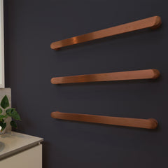 NEW CODE SINGLE TOWEL RAIL ROUND ROSE GOLD - 3 Sizes