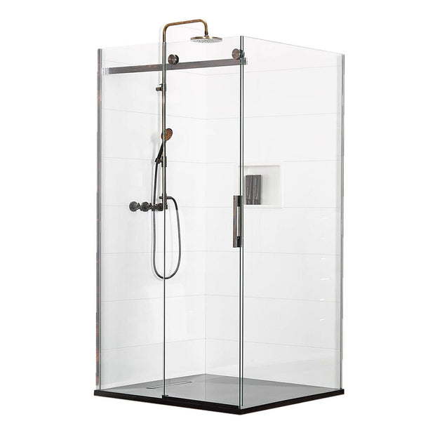 ATLANTIS EBONY & IVORY SHOWER KIT - 2 SIDED