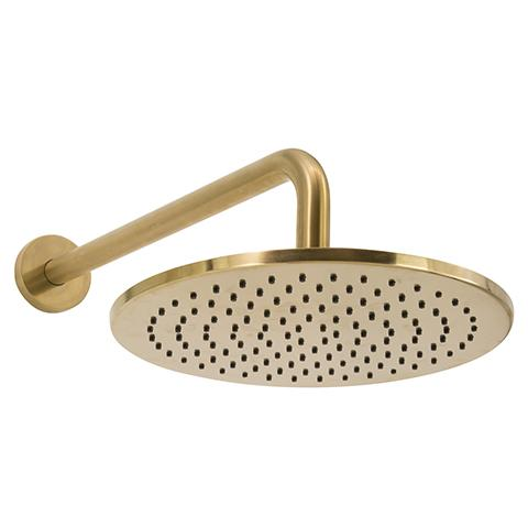 SCARAB RAIN SHOWER WITH WALL ARM BRUSHED GOLD