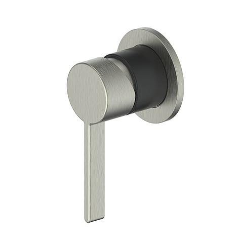 GLINT SHOWER MIXER BRUSHED NICKEL/MATTE BLACK