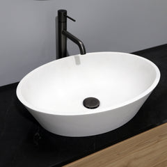 EX DISPLAY HALO 2.0 OVAL BASIN 560X130MM SNOW QUARTZ - 1 ONLY!