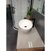 NEW ELITE HALO 2.0 OVAL BASIN 560X130MM MATTE WHITE
