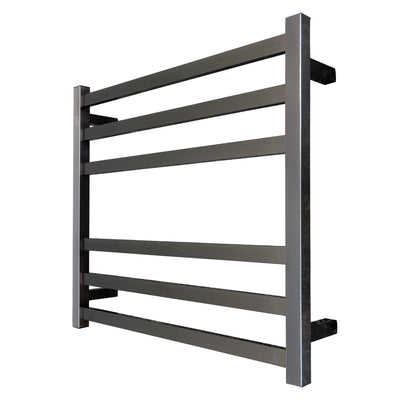 ELITE CODE SQUARE HEATED TOWEL LADDERS GUNMETAL - 4 SIZES