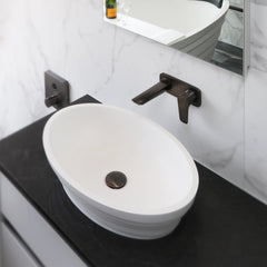 ELITE IDAHO QUARTZ 2.0 OVAL BASIN 560X370X130MM 2 COLOURS