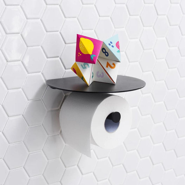 designer toilet roll holder
