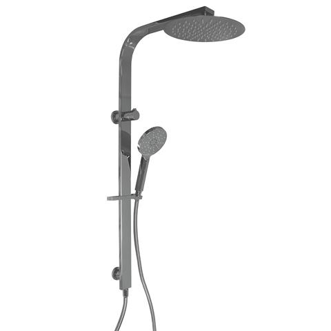 PLUMBLINE COMO ROUND SHOWER COLUMN 3 FUNCTION CHROME