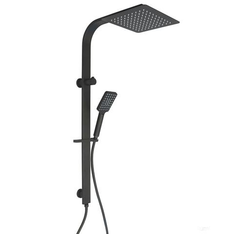 PLUMBLINE COMO SQUARE SHOWER COLUMN 3 FUNCTION BLACK