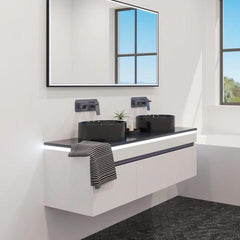 BROADWAY BLACK FRAMED LED MIRRORS - 4 SIZES