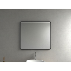 ELITE ENZO GLOSS FRAMED MIRROR 900X1000X50MM BLACK