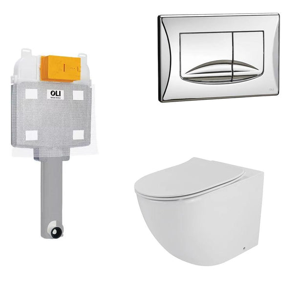 OLI ZEN FLOORSTANDING INWALL TOILET SUITE - 2 ONLY!