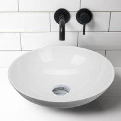 ELITE ARC QUARTZ ROUND BASIN 430X130MM 3 COLOURS