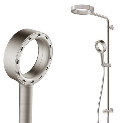 XCITE SHOWER COLUMN WITH DIVERTER BUTTON 1 FUNCTION BRUSHED NICKEL
