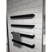 matte black heated towel rails