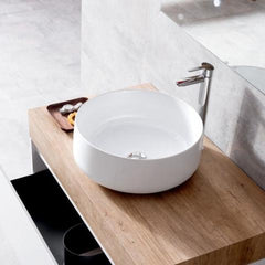 COGNAC VESSEL BASIN 420X420X160MM WHITE GLOSS