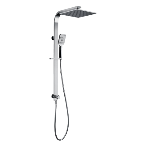 CUBE 2.0 SQUARE SHOWER COLUMN 2 FUNCTION CHROME