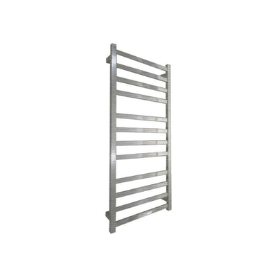 ELITE SQUARE HEATED TOWEL LADDER 1200X500MM BRUSHED