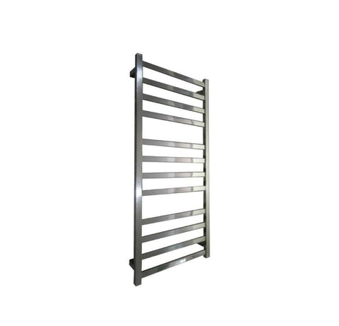 ELITE SQUARE HEATED TOWEL LADDER 1200X500MM STAINLESS STEEL