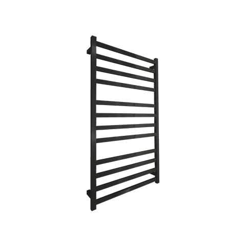 ELITE SQUARE HEATED TOWEL LADDER 1200X650MM BLACK