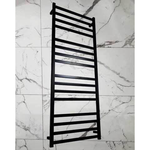ELITE SQUARE HEATED TOWEL LADDER 1600X600MM BLACK