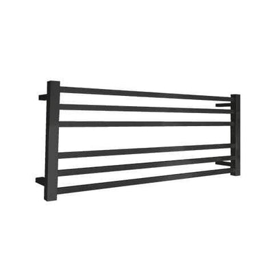 ELITE SQUARE HEATED TOWEL LADDER 600X1050MM BLACK
