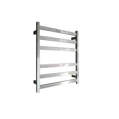 ELITE SQUARE HEATED TOWEL LADDER 600X500MM STAINLESS STEEL