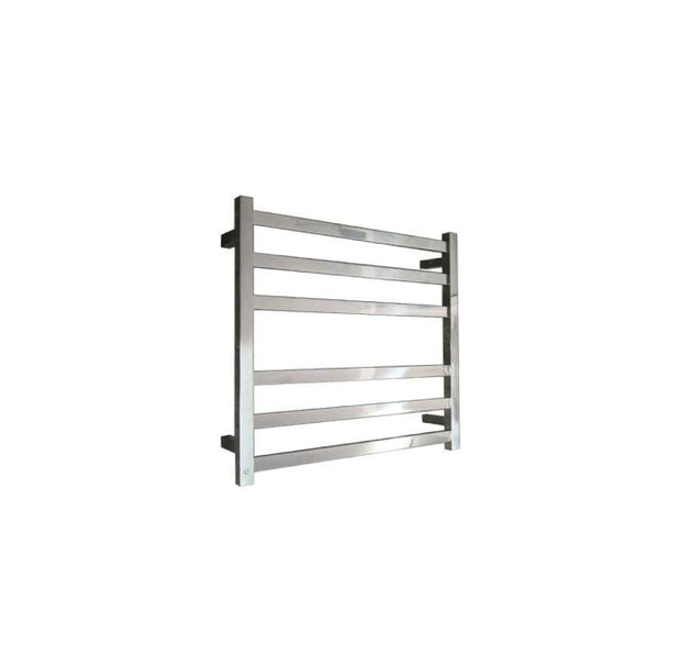 ELITE SQUARE HEATED TOWEL LADDER 600X650MM STAINLESS STEEL