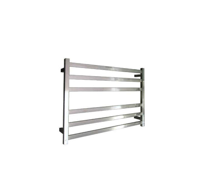 ELITE SQUARE HEATED TOWEL LADDER 600X850MM STAINLESS STEEL