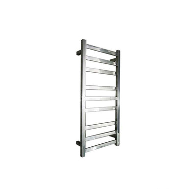 ELITE SQUARE HEATED TOWEL LADDER 900X400MM STAINLESS STEEL