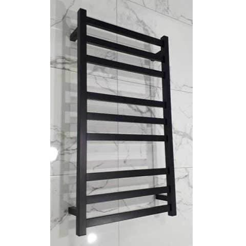 ELITE SQUARE HEATED TOWEL LADDER 900X500MM BLACK