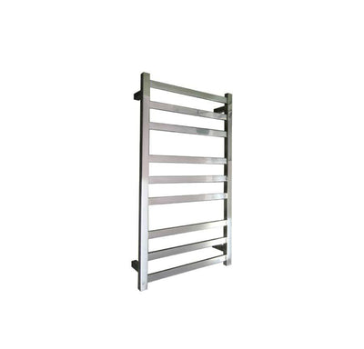 ELITE SQUARE HEATED TOWEL LADDER 900X500MM STAINLESS STEEL