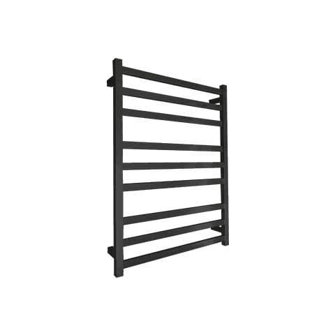 ELITE SQUARE HEATED TOWEL LADDER 900X650MM BLACK