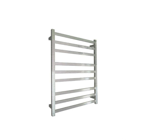 ELITE SQUARE HEATED TOWEL LADDER 900X650MM BRUSHED