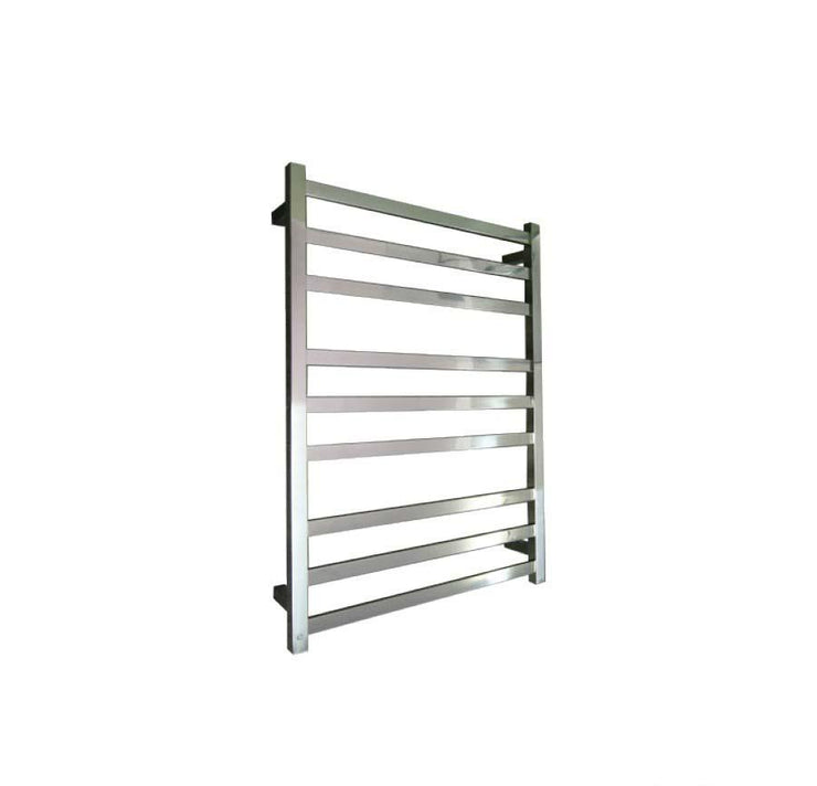 ELITE SQUARE HEATED TOWEL LADDER 900X650MM STAINLESS STEEL