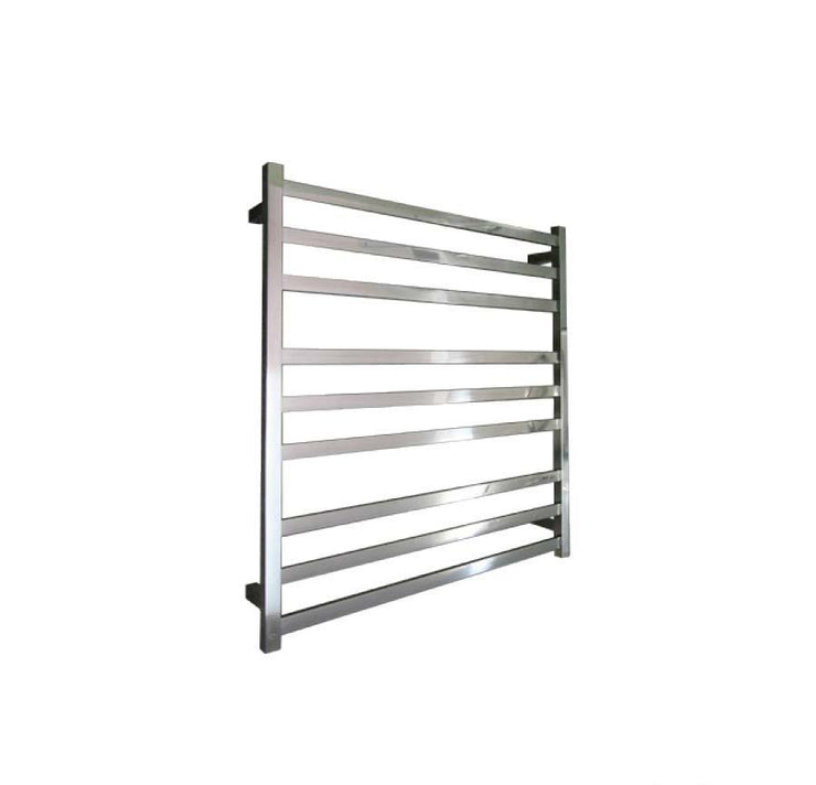ELITE SQUARE HEATED TOWEL LADDER 900X850MM STAINLESS STEEL