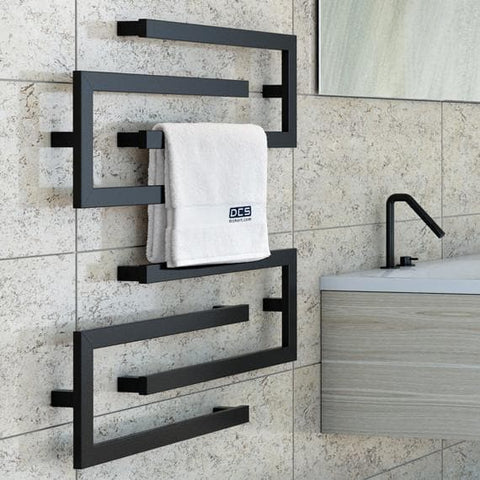 DCSHORT C HEATED TOWEL RAIL 650MM 3 COLOURS
