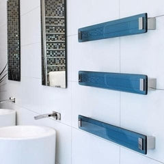 DCSHORT LAVA GLASS HEATED TOWEL RAIL