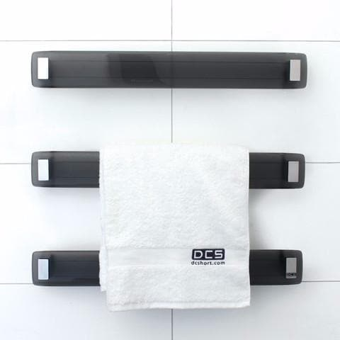 DCSHORT LAVA GLASS HEATED TOWEL RAIL 660MM 4 COLOURS