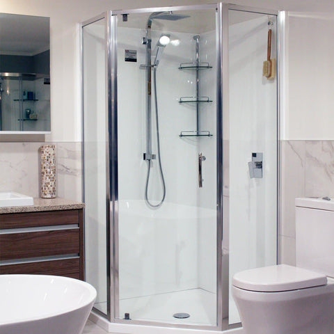 ELEGANCE FRAMED SHOWER KIT - QUADRANT (ANGLED FRONT)