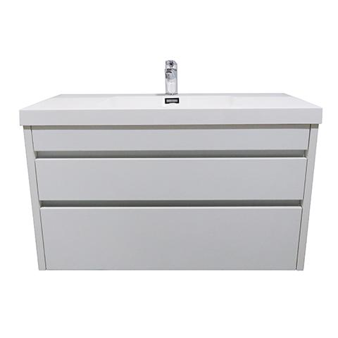 ELITE CUBE 1000 2 DRAWER WALL HUNG STOCK VANITY & TOP, 4 COLOURS