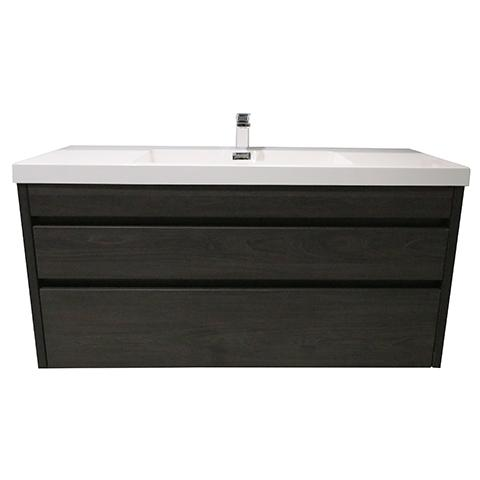 ELITE CUBE 1200 2 DRAWER WALL HUNG STOCK VANITY & TOP, 4 COLOURS